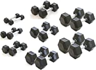 Cheap Gym Master 1-20KG Fitness Rubber Hex Dumbbells (Pair) Commercial Grade Quality for Body Building Strength Core Resistance -image