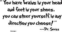 Dr. Seuss Wall Decals-You Have Brains in Your Head You Have Feet in Your Shoes- Wall Decor from Global Sign Images, Inc