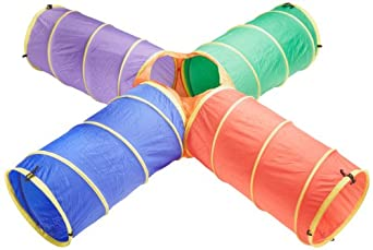 Sportime Super Cross Nylon Crawl Tunnel - 20 in x 8 ft - Multiple Colors
