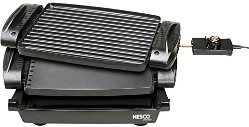 Reversible Grill *** Product Description: Reversible Grillgrill On One Side And Griddle On The Other! The Reversible Grill From Nesco(R) Is An Extremely Versatile Appliance For Your Kitchen. From Making Your Morning Time Bacon And Eggs Or Pancake *** front-512522