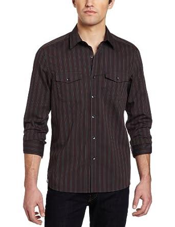 (狂跌)肯尼斯凯尔Kenneth Cole Men's Double Pocket男子型男衬衣$17.43