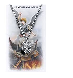 st michael prayer card set pendant necklaces
