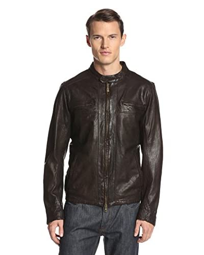Vince Camuto Men's Perforated Leather Jacket