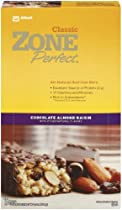 ZonePerfect All Natural Nutrition Bar, Chocolate Almond Raisin, 1.76-Ounce Bars in 12-Count Boxes (Pack of 2)
