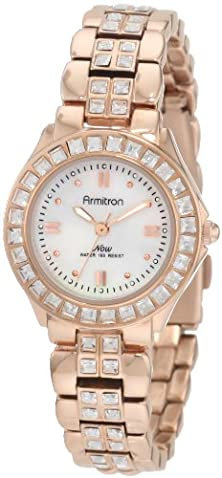 buy Armitron Women'S 75/3689Mprg Swarovski Crystal Accented Rosegold-Tone Dress Watch