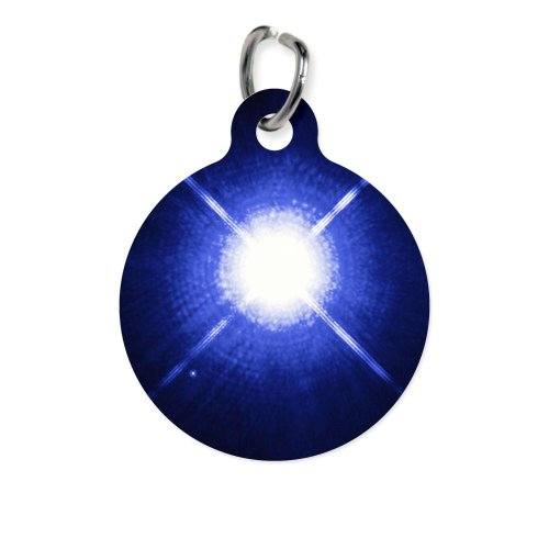 Cafepress Sirius Binary Star System - Round Pet Tag - Standard White [Misc.]