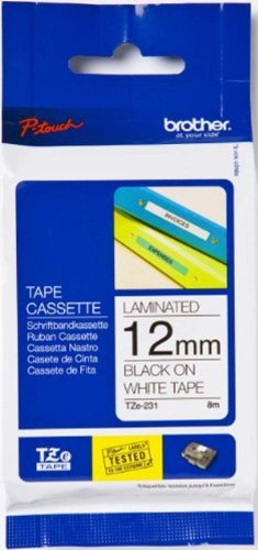Brother Laminated Black on White Tape (TZe231) - Retail Packaging
