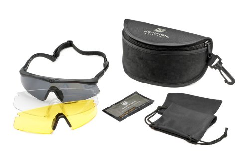 Revision Military Sawfly High-Impact Polarized Deluxe, Regular - Black