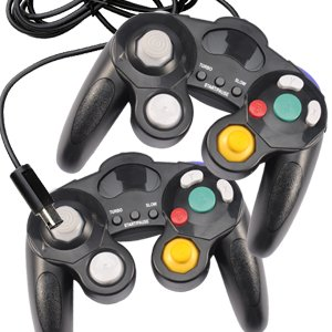 2 New Black Controller Joypad Gamepad for Nintendo Wii GameCube /GC