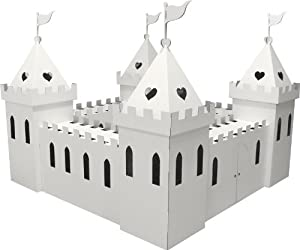 Kid-Eco Large Cardboard Princess Palace Playhouse (White)