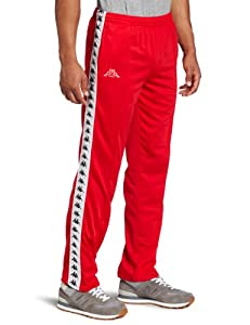 Kappa Men's Banda Astoria Pant, Red, Medium