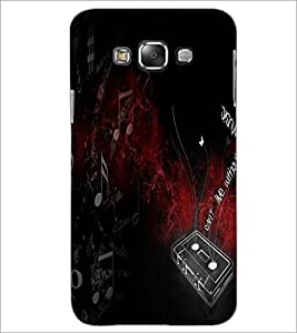 PrintDhaba Music D-2881 Back Case Cover for SAMSUNG GALAXY E7 (Multi-Coloured)