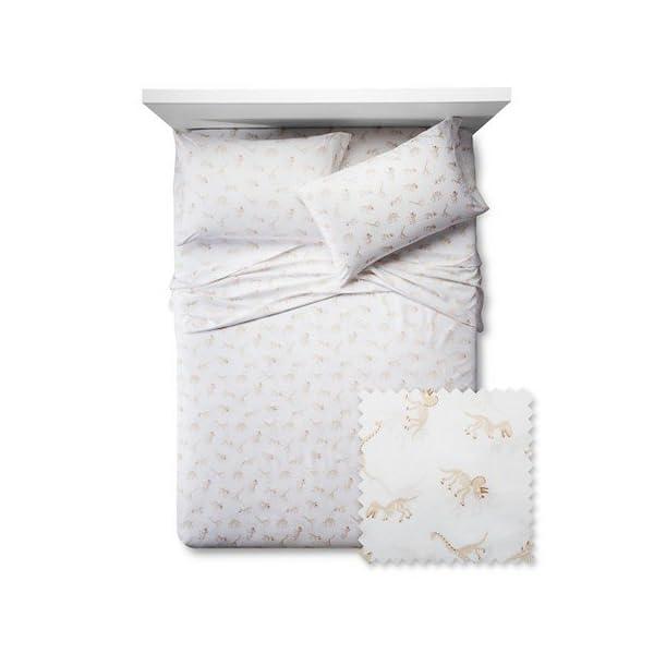 Dinosaur-Bones-Sheet-Set-Pillowfort-Twin