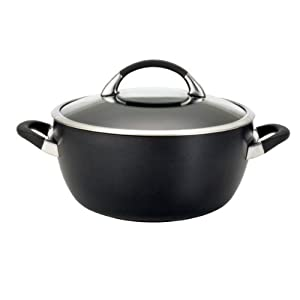 Circulon Symmetry Hard Anodized Nonstick 5-1 2-Quart Covered Casserole by Circulon