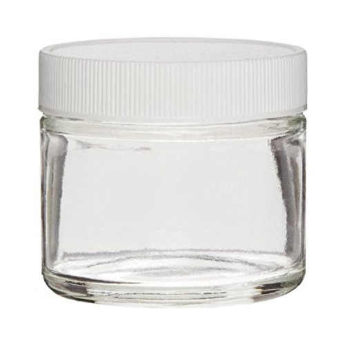 Clear Glass Jar 2 Oz With White Lid (Sks Bottle & Packaging compare prices)
