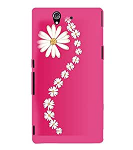 Printvisa Assorted Floral Pattern Back Case Cover for Sony Xperia Z::Sony Xperia Z L36h