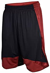 Jordan Men\'s Nike Dri-Fit Momentum Basketball Shorts-Black/Burgundy-Small