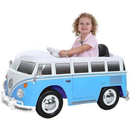 RollPlay 6V VW Bus Ride-On,Blue