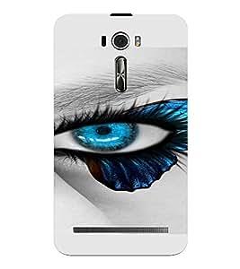 PrintVisa Blue Eyes Design 3D Hard Polycarbonate Designer Back Case Cover for Asus Zenfone 2 Laser ZE601KL