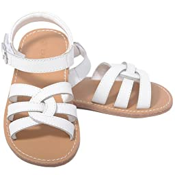 L\'Amour White Woven Strap Summer Sandals Toddler Girls 8