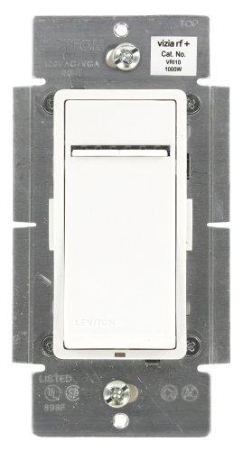Leviton Vri10-1Lz Vizia Rf + 1000W Incandescent Scene Capable Dimmer, White/Ivory/Light Almond