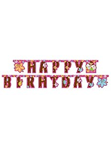 Creative Converting Pink Luau Fun Happy Birthday Jointed Party Banner from Creative Converting