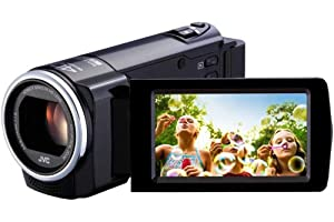 JVC GZ-E15 BE Full-HD Camcorder (40fach optischer Zoom, Zeitraffer, SD Kartenslot)