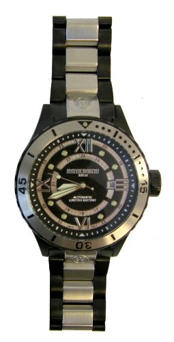 Immersion IM8211 Gents Watch Automatic Analogue Black Dial Black Steel Strap/Grey