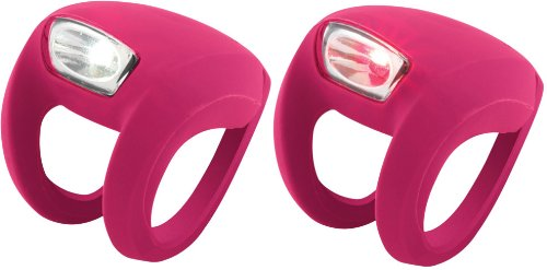 Knog Frog Strobe Twinpak - Headlight & Taillight combo Magenta Bodies. BE SAFE - BE SEEN !