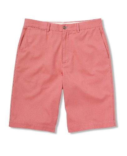 Savile Row Mens Salmon Twill Flat Front Shorts acme jungle white