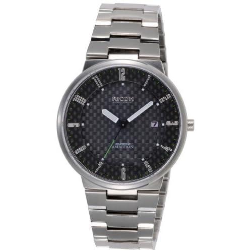 [リコー]RICOH ソーラー腕時計 シュルード・アンビション・スマート アナログ表示 10気圧防水 日付表示 カーボンブラック 697006-01 メンズ