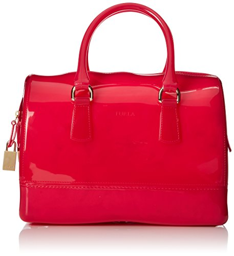 FURLA Candy Medium Satchel Handbag,Gloss,One Size