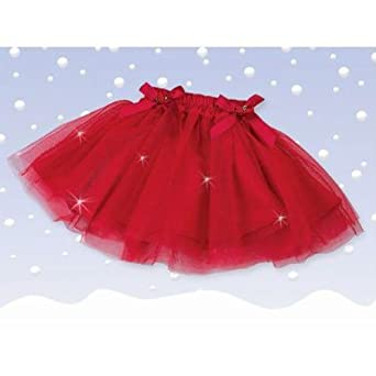 Bearington Sparkling Red Christmas Tutu