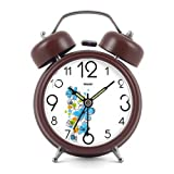 Modern Fashion Lovely Metal Alarm Clock Brown 872