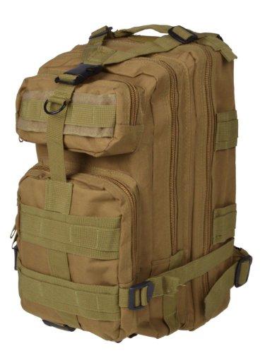 Tan 30L Military Tactical Multicam Backpack Rucksack Sport Hiking Trekking Bag front-712943