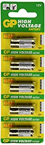 GP High Voltage 12v A23 23AE Batteries - 12V