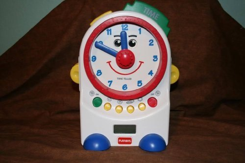 Playskool Teachin' Time Talking Clock Toy Digital and Dial 1995 Teaching - 1