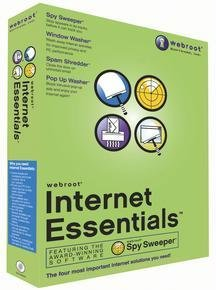 Webroot Internet Essentials Suite with Spysweeper