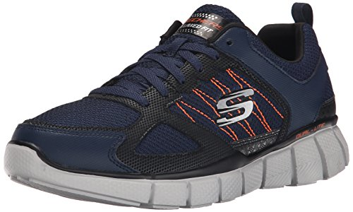 SkechersEqualizer 2.0 on Track - Scarpe Running uomo , Blu (Blue (Nvor - Navy Orange)), 43 EU