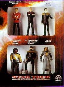 Star Trek: Generations Movie Collectible Figurines - Captain Kirk, Captian Picard, Lt. Commander Data, Lt. Commander Worf, Lt. Commander La Forge and Lursa