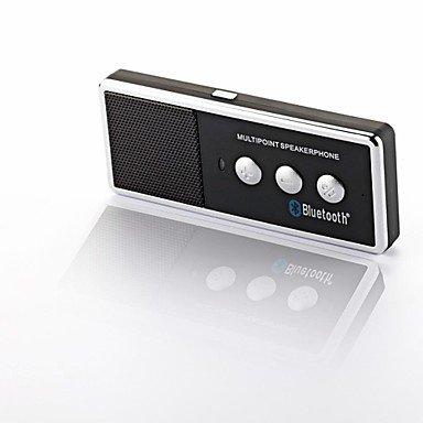 Zcl Portable Rechargeable Bluetooth V4.0 Cell Phone Handsfree Speaker Car Kit - Black + Silver , 1 Pcs