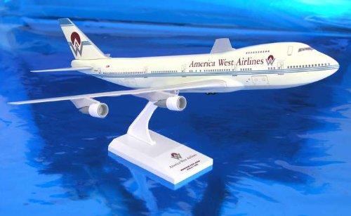 1: 200 スカイマークス America West 航空 ボーイング 747-200 Old Colors, with Landing Gear (並行輸入)