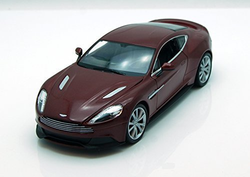 Welly Aston Martin Vanquish 1/24 Scale Diecast Model Car Maroon (Aston Martin Cars compare prices)