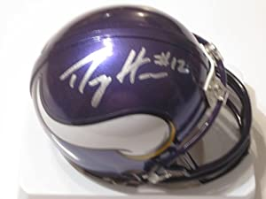 Percy Harvin Signed Autographed Mini Helmet Minnesota Vikings Authentic Certified Coa