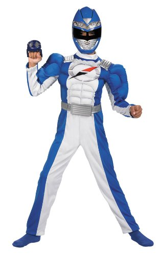 Blue Power Ranger Costume with Muscle Chest