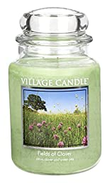 Village Candle Fields of Clover 26 oz Glass Jar Scented Candle, Large