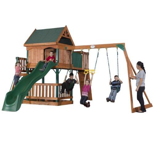 Backyard Discovery Hawkeye Wood Swing Set front-131358