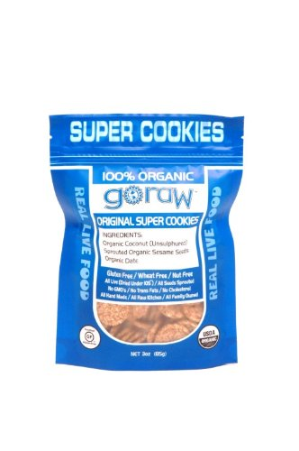 Go Raw Freeland Super Cookies, Original, 3.0-Ounce Bags (Pack of 6)