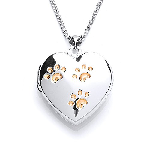 the-blue-cross-animal-charity-silver-heart-shaped-locket-with-gold-plated-paw-prints-displayed-from-
