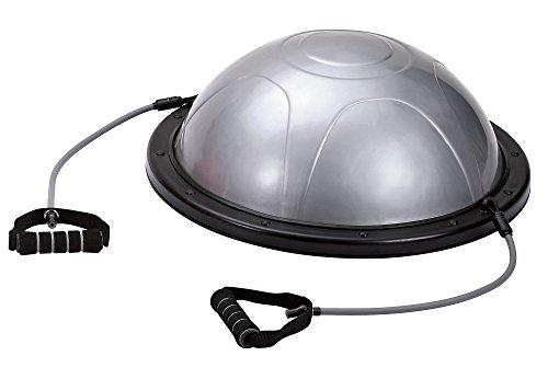 Movi Fitness MF509 Bosu con Maniglie e Pompa, Argento/Nero